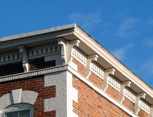 Coffered Soffits with Lamb's Tongue Brackets