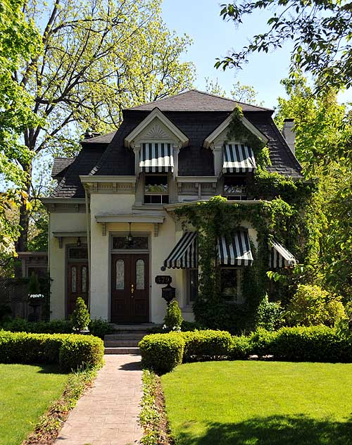 Fabulously restored  suburban Second Empire house in Burlington