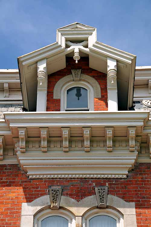 Dormer detail from the Second Empire Mansard roof found in Hamilton Ontario